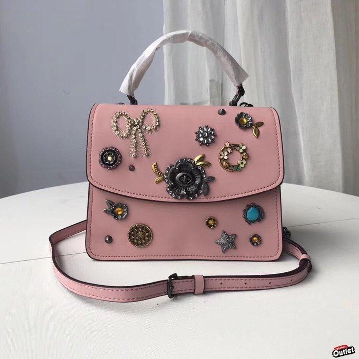 【全球購.COM】COACH 55370 2019新款 粉色 秀氣女包 parker手袋斜跨包 美國代購