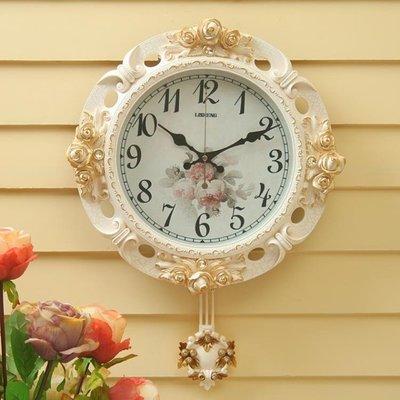 鐘錶掛鐘客廳時鐘簡約美式復古掛錶歐式掛...