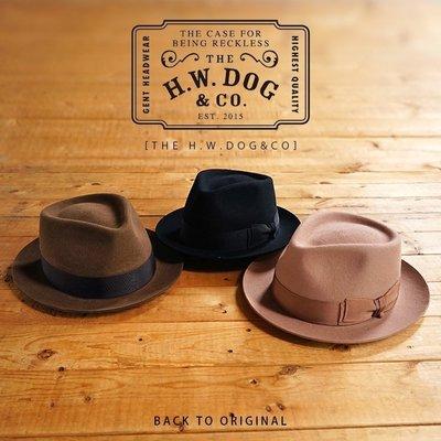 Back to Original 日本製帽名家【H.W. Dog】現貨日產短帽沿復古紳士帽四色 Pinch H
