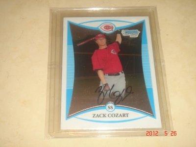 美國職棒 Reds Zack Cozart  2008 Bowman Chrome Prospects #BCP209 RC 新人卡 球員卡
