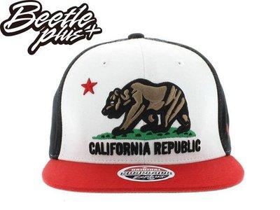 BEETLE PLUS 全新 ZEPHYR CALIFORNIA REPUBLIC 加州熊 白 紅 黑 ORIGINAL SNAPBACK 後扣棒球帽
