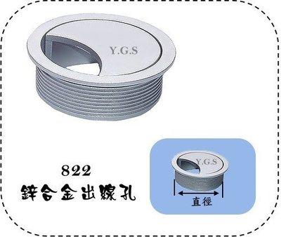 Y.G.S~家具五金系列~ 822锌合金出線孔 (含稅)