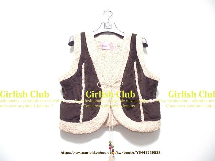 【Girlish Club】全新專櫃pink噗雪絨毛背心s(m753)moussy外套sly羽絨大衣sz二三一元起標