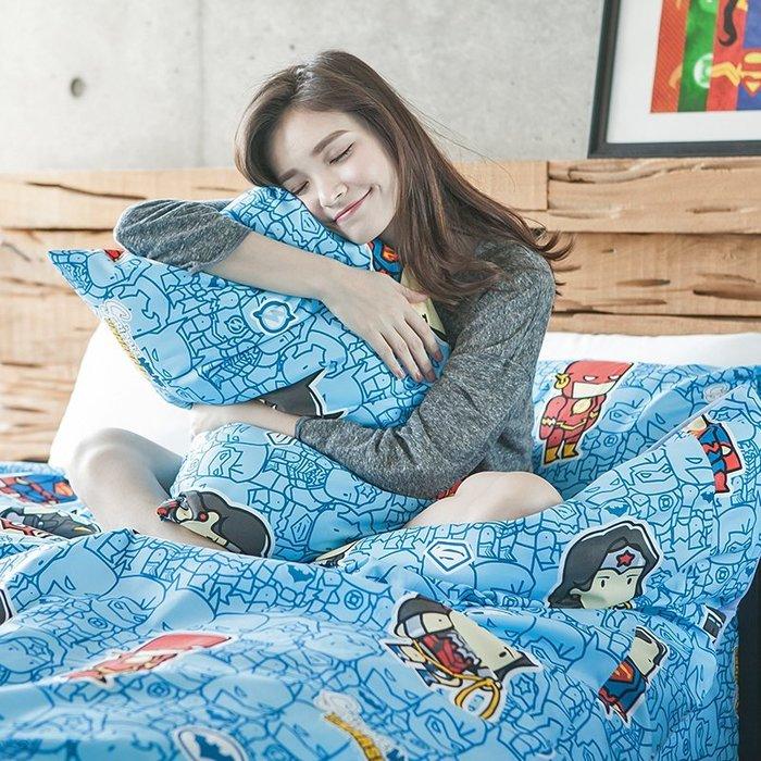 床包 / 雙人【正義聯盟-正義曙光】含二件枕套,磨毛多工法處理,戀家小舖台灣製M02-ABF201