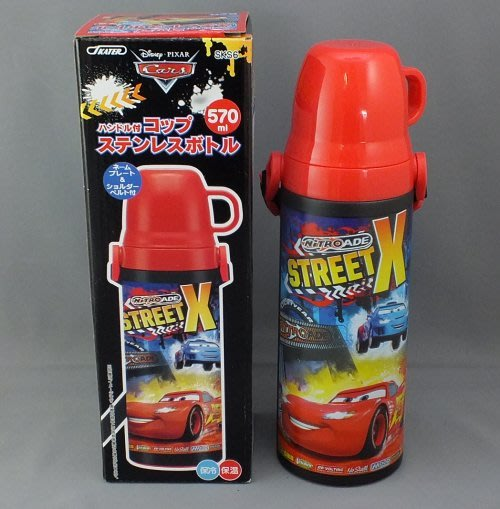 現貨不必等 迪士尼 汽車總動員 cars 閃電麥坤 玩具總動員 不銹鋼保溫瓶 附背帶 杯蓋 473307293085 c
