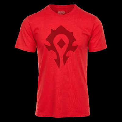 【丹】暴雪商城_World of Warcraft Horde Heather Shirt 魔獸世界 部落 T恤