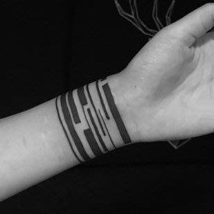 【萌古屋】線條環形圖 - 防水紋身貼紙手臂腳踝環形刺青貼紙A68 K72