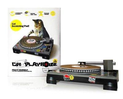 PB201857- 出口美國貨。貓咪DJ 紙抓盆
