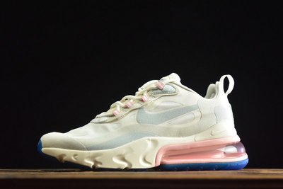 Nike Air Max 270 React 粉白 雲朵 百搭 氣墊 休閒運動慢跑鞋 AT6174-100 女鞋