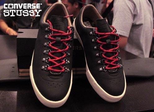 【 現貨 】全新正品 2012 聯名鞋款 Stussy x Converse  Elm 登山鞋系列 黑色  US 7 -11