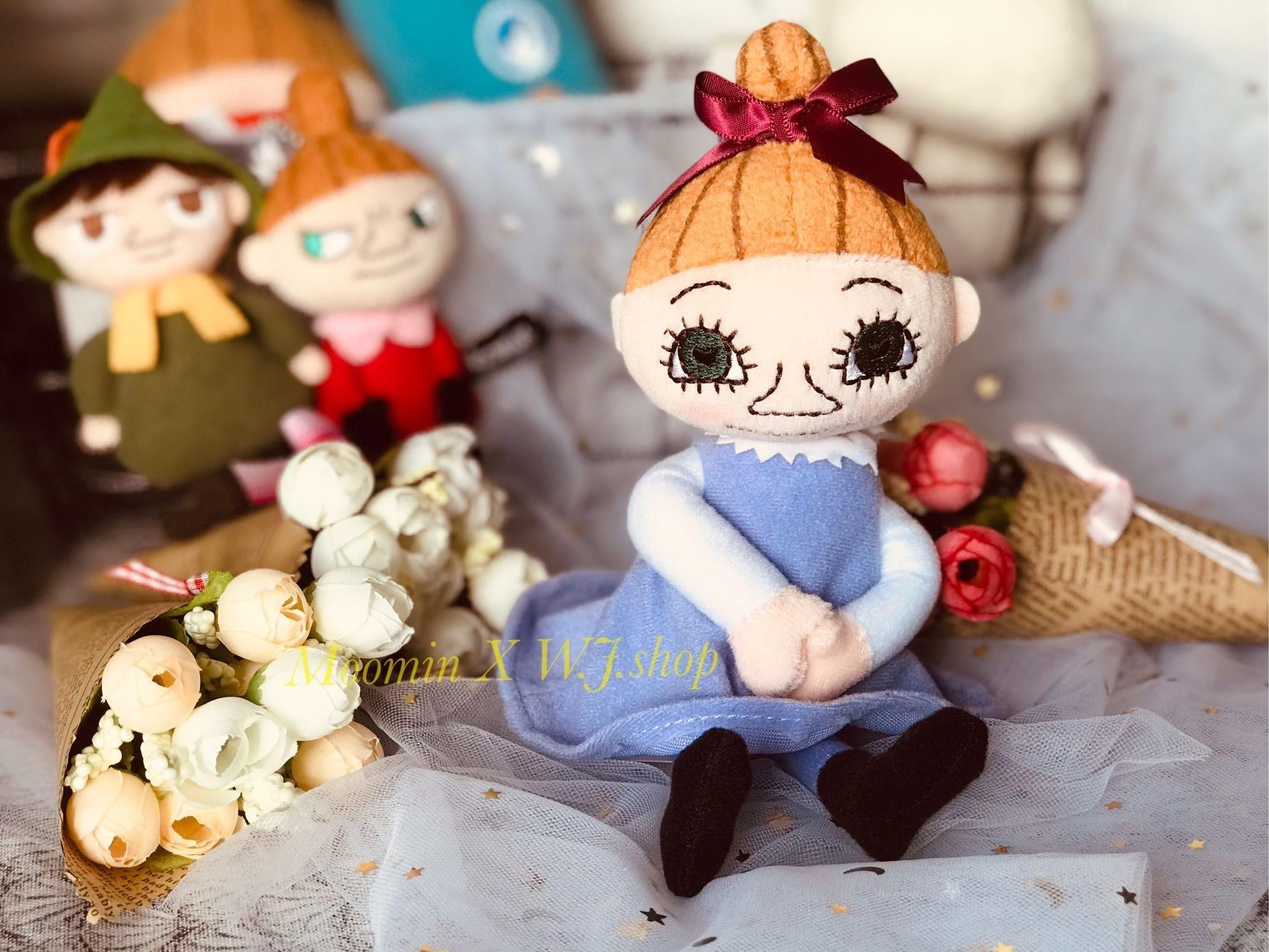 現貨☆汪將☆日本正版 moomin 慕敏家族 嚕嚕米 小美 小不點 紫色 美寶 dream mimura 絨毛布偶 娃娃
