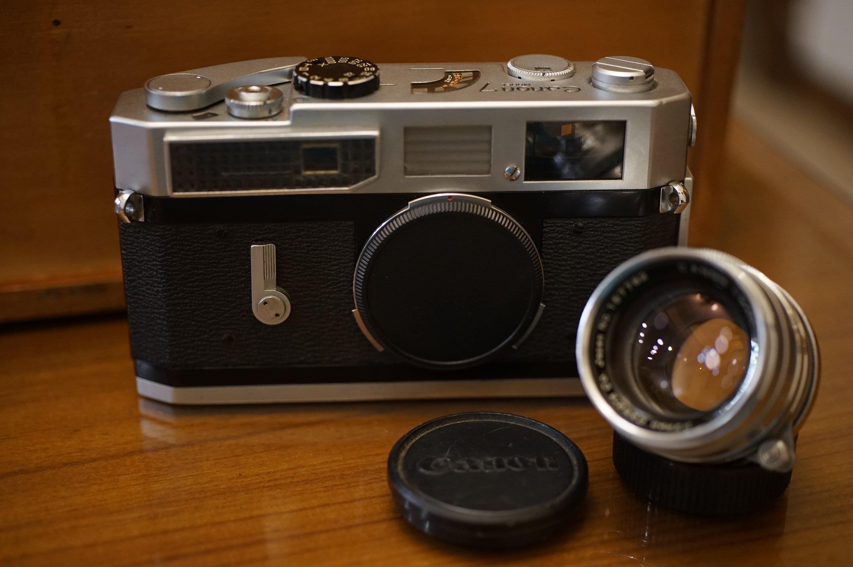 Canon 7 RF旁軸底片機加購 稀有超大光圈RF老鏡 L39 50mm F1.8 LTM