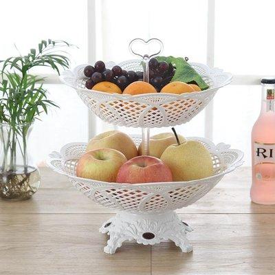 歐式多層水果籃創意三層干果盤現代客廳糖果盤點心盤塑料果盆果籃  ys549