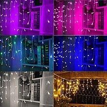 可串接冰條燈100顆LED串燈 寬約3米 聖誕燈 LED窗簾燈/婚慶燈/夜景裝飾/節日喜慶彩燈  彩色