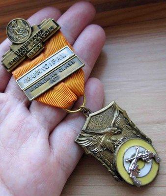 【戴大花2】VTG- 1970年【SISKIYOU PISTOL LEAGUE】手槍 聯盟 紀念 老勳章 #B356