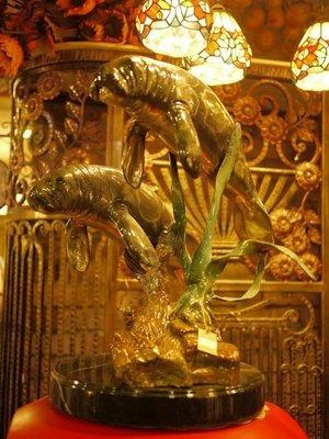 .雜貨箱.海狗-泰國純銅高級擺飾裝飾銅雕銅器民宿餐廳