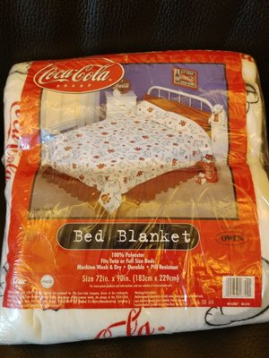 Coca Cola Bed BlanketTwin or Full size bed