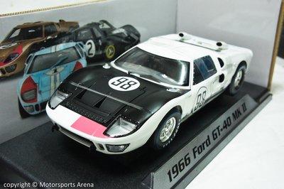 【現貨特價】賽道狂人 1:18 Shelby Ford GT40 MK 2 #98 Daytona 1966 Miles