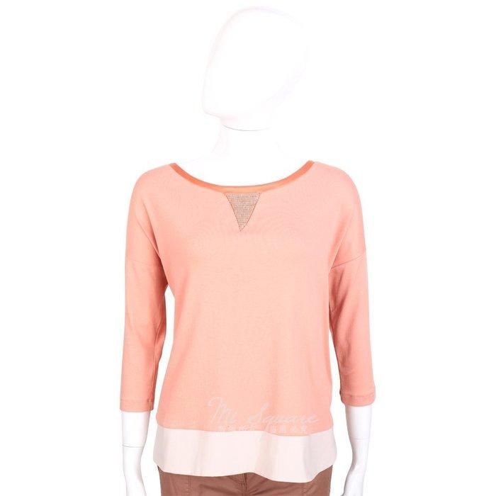 米蘭廣場 FABIANA FILIPPI 粉橘色拼接設計七分袖上衣 1420098-05