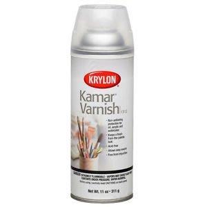 KRYLON KAMAR VARNISH 1312 油畫凡尼斯 透明保護噴膠 油畫壓克力專用
