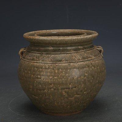 ㊣姥姥的寶藏㊣ 西晉越窯原始青瓷雙系罐子  出土文物古瓷器手工古玩古董收藏擺件