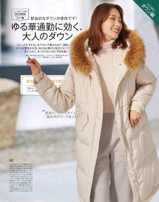 歐美 新款 日雜推薦 可脫卸超大貉子毛領 防風袖套 輕軟舒適中長版羽絨大衣外套 兩色 (G910)