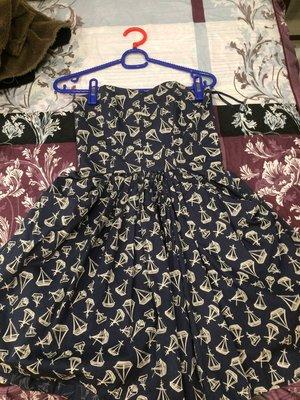 購自英國JACK WILLS 無肩帶平口少女小洋裝 很青春