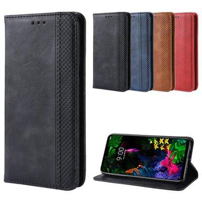LG G8 ThinQ手機殼G8復古皮套LG G8thinQ手機套G8插卡防摔保護套