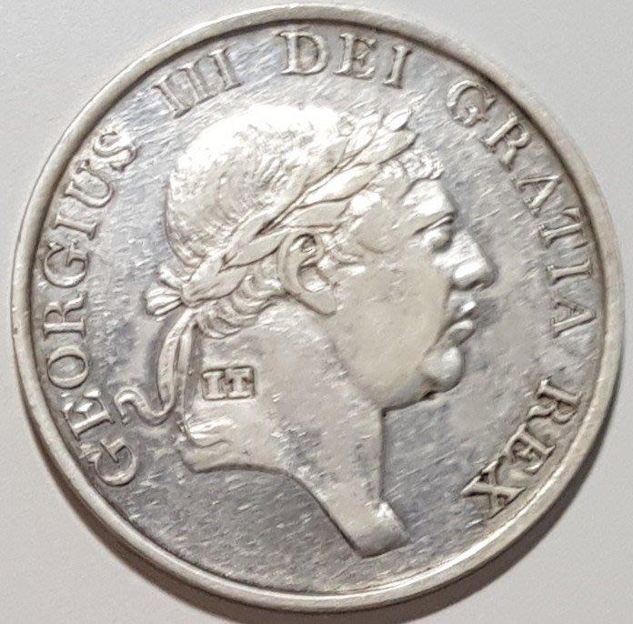 英國銀幣 1813 UK George III Bank Token 3 Shilling.