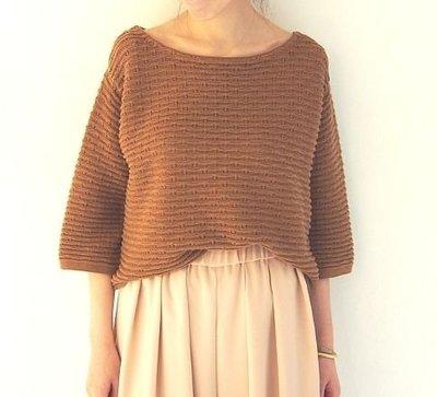 【現貨】日本品牌 Spick and Span 美麗弧度袖子 駝色針織衫