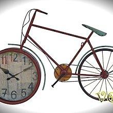 *Vesta 維斯塔*Loft 鐵藝仿舊自行車壁鐘/大尺寸