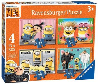 德國 Ravensburger Despicable Me 3 小小兵 拼圖 神偷奶爸 Minions 卡通 共4圖