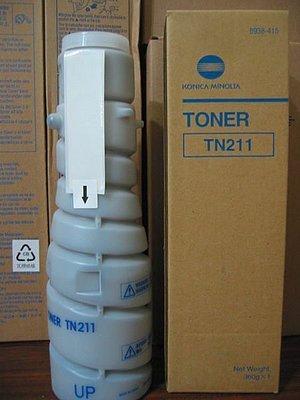 KONICA MINOLTA TN-211原廠碳粉 bizhub250 bizhub282 BH250 BH282---