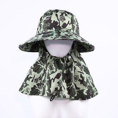 【PD帽饰】迷彩戶外釣魚遮陽帽夏季出行戶外騎車工作旅游登山遮陽 海邊 防風  採茶帽