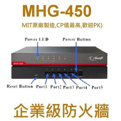 支援iOS10 VPN翻牆-MHG-450多WAN Firewall安全路由器/防火牆-萬元內全球CP值最高的防火牆