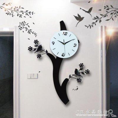 全館免運特價-北歐創意鐘錶小鳥掛鐘客廳...
