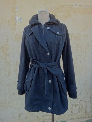jacob00765100 ~ 正品 nonstop 黑色鋪棉 長版棉質外套 size: F