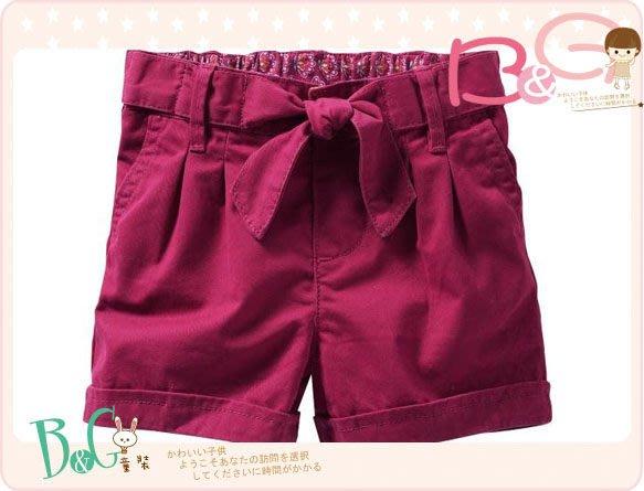 【B& G童裝】正品美國進口GAP紅色綁帶純棉短褲2yrs