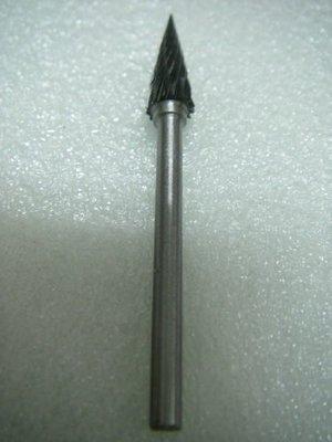 YT(宇泰五金)正台灣製(章魚牌)專業鎢鋼滾磨刀/鐵材.塑膠.木材可用/6*18mm-3mm柄(尖型)