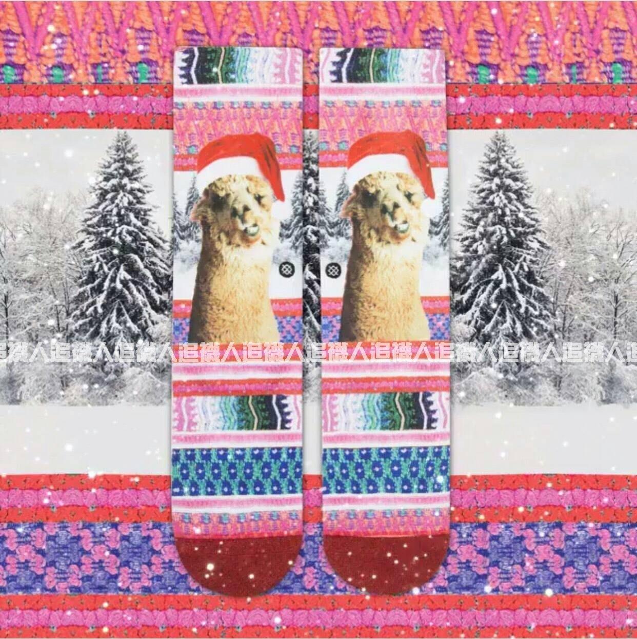 Stance 聖誕限定款 TINSEL TINA  襪子 羊駝 草泥馬 中筒襪 女生專屬 S號 粉色亮眼 節慶款式