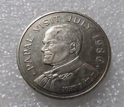 生活品質館 外国钱币 圣卢西亚1986年5元纪念币 收藏 纪念 送礼