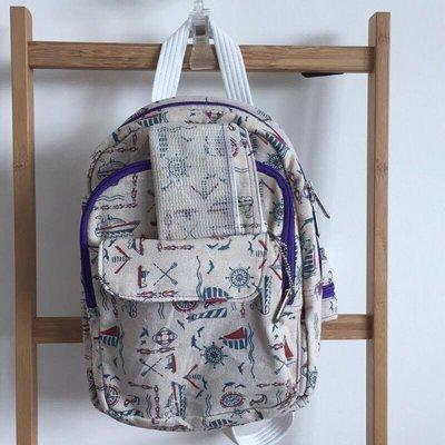 沂手作包 多功能後背包 送零錢包  肩背 手提 三用包 帆布包 僅此一個 沂軒精品