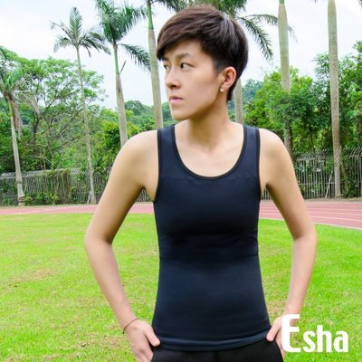 《Esha束胸》Cozy舒適型系列II代-套頭背心長 #T009