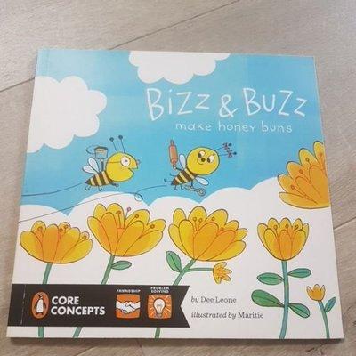 57折 二手童書 Bizz & Buzz Make Honey Buns 平裝繪本 英文繪本 發音 Phonics