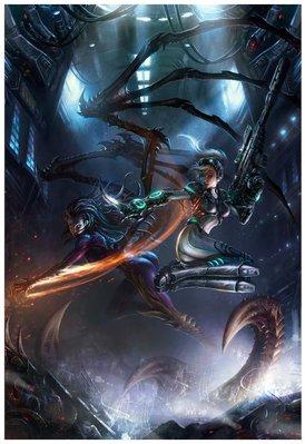 【丹】BZUS_StarCraft Gallery Wrapped Canvas 星海爭霸 藝術圖 藝術掛布