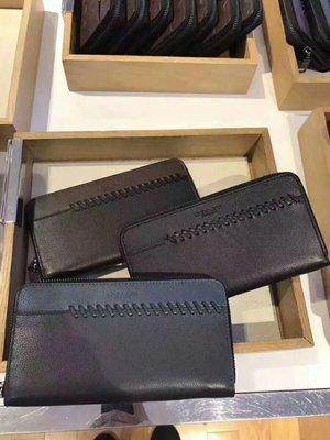 美國名品折扣店~ 特賣 COACH 21369 蔻馳 新款男式真皮錢包 編織款手拿包 拉鏈長夾 荔枝紋皮夾