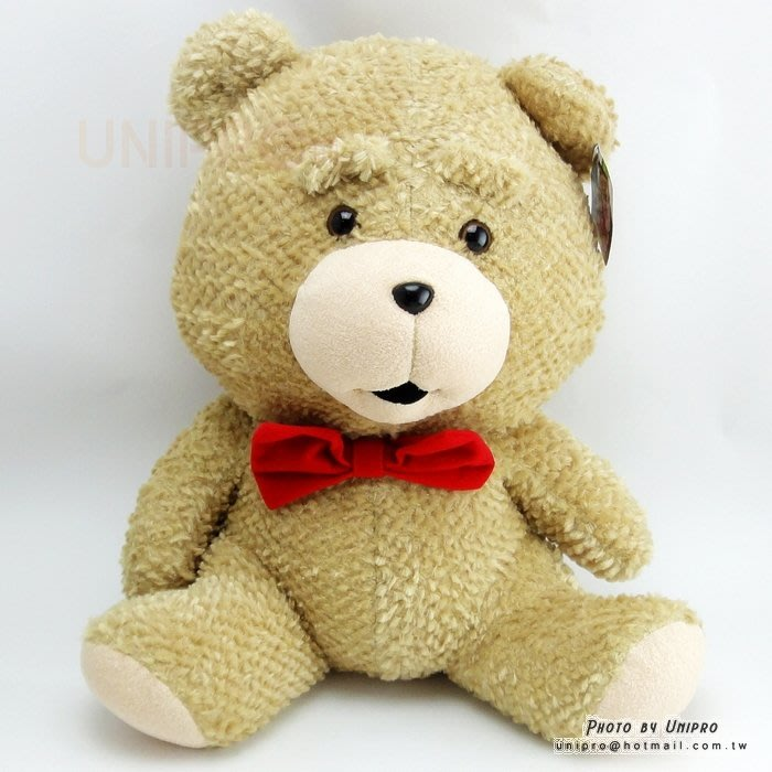 【UNIPRO】熊麻吉 蝴蝶結熊 坐姿 絨毛玩偶 娃娃 無辜熊 生日禮物 領結熊 泰迪熊