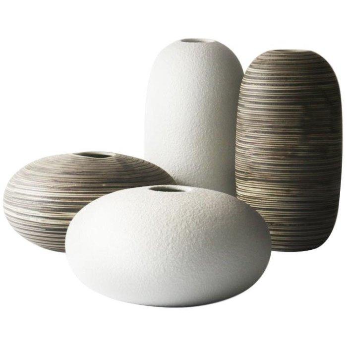 花瓶 現代簡約設計陶瓷插花瓶北歐家居裝飾品擺件餐廳客廳桌面擺設      DF