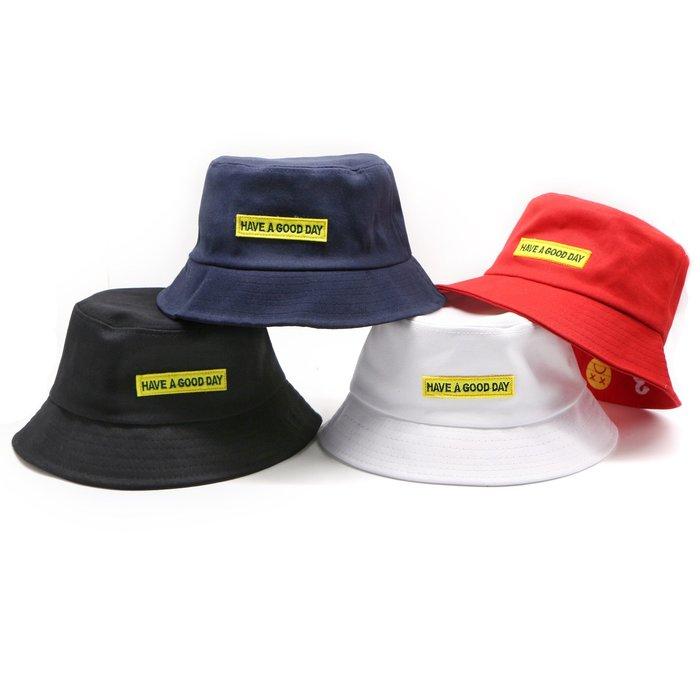 【高CP值】字母帽子女士daygood漁夫帽平頂休閑帽親子防曬佈帽韓版
