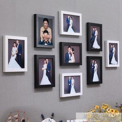 [新品]全7寸九宮格婚紗相框掛牆創意組...